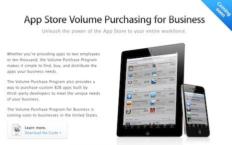 Apple to introduce volume app purchasing for businesses