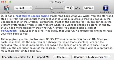 Daily Mac App: Text2Speech lets hear what you write in