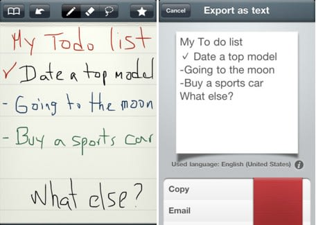 Daily iPad App: MyScript Memo takes your handwriting and