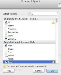 Mountain Lion 101: Updated high-quality voice synthesis