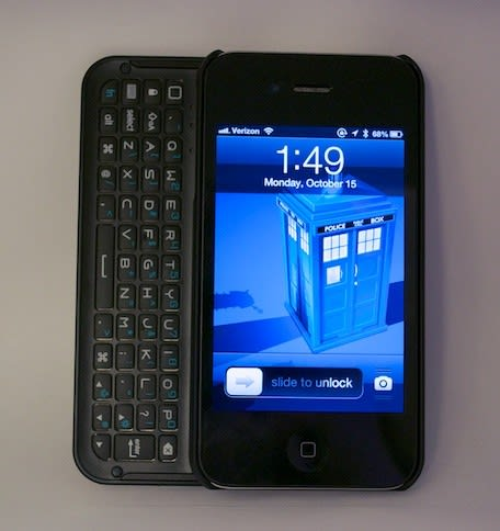 the latest 806ca 281e2 Boxwave Keyboard Buddy Case for iPhone: Backlit BT slide-out keyboard