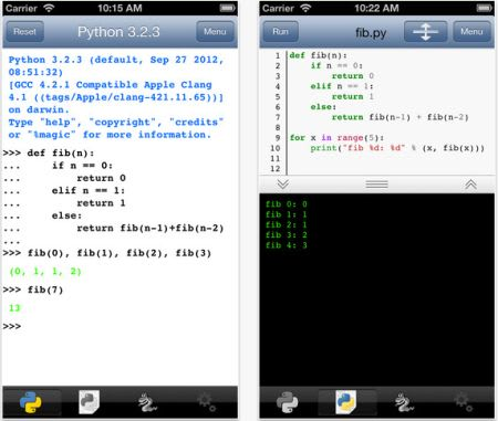 Python 3 2 lets you write Python on the iPhone