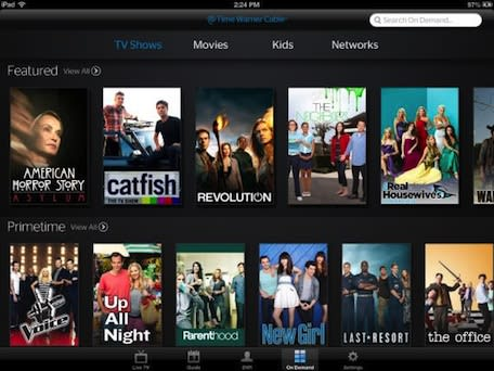 Time Warner TWC TV app now lets users watch shows On Demand