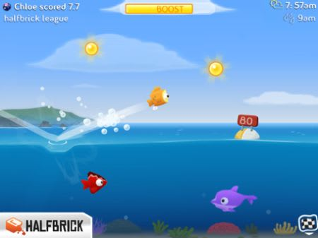 Daily iPhone App: Fish Out of Water! makes a gorgeous splash