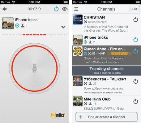 Daily iPhone App: Zello lets you chat walkie-talkie style with