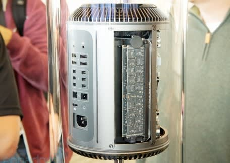 Engadget gets a glimpse of the new Mac Pro
