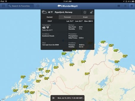 Wundermap Provides Worldwide Weather Maps For Ios Devices