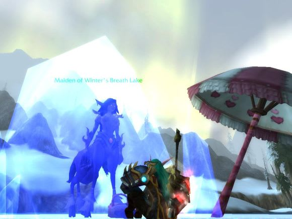 Vendarvan Of Lost In WoW On KaelThas Knows That You Cant Hurry Love Hes Decided To Sit And Wait For His True The Maiden Winters Breath Lake