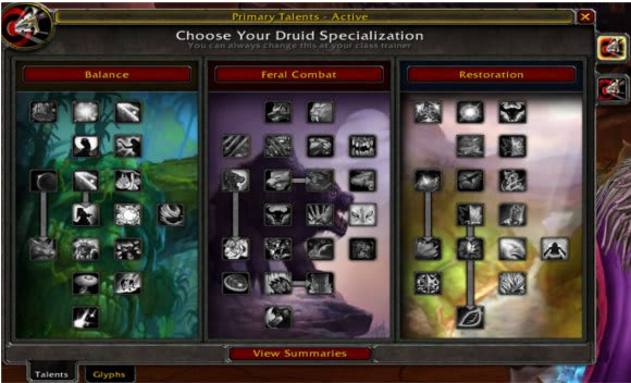 Cataclysm Beta: Balance druid talents and specializations