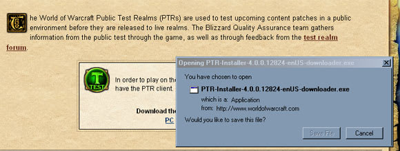 PTR Client Patch 4 0 1 available for download