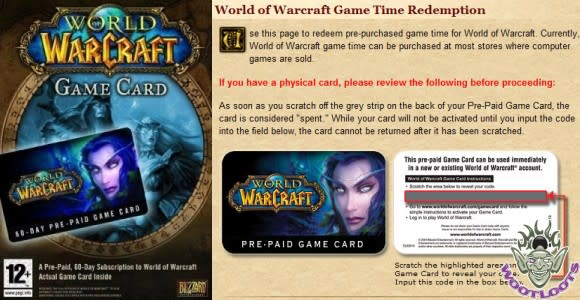 12 Days of Winter Veil Giveaway: 60-day prepaid game cards from