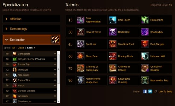 Blood Pact: MoP talent calculator spells out more changes