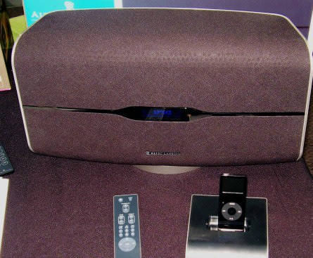 Altec Lansing cuts the wire between iPod dock and speaker in the M812