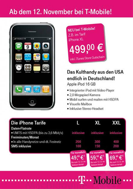 Did T Mobile Germany Really Leak The 3g 16gb Iphone Doubtful