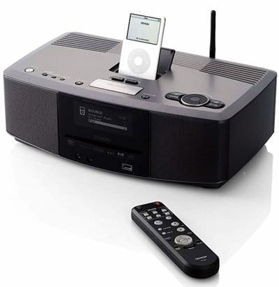 denon unveils new s 52 ipod dock at series speakers engadget. Black Bedroom Furniture Sets. Home Design Ideas