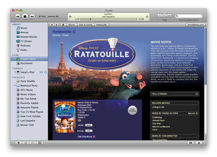 Hands-on with iTunes movie rentals: quirky and restrictive