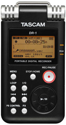 Tascam DR-1 digital recorder can slow things down without