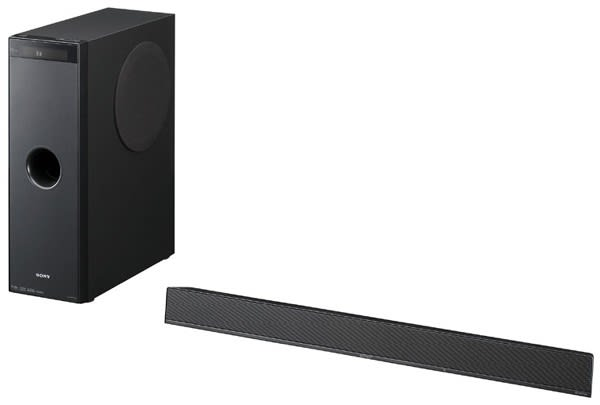 Sony intros HT-CT100 sound bar / subwoofer combo
