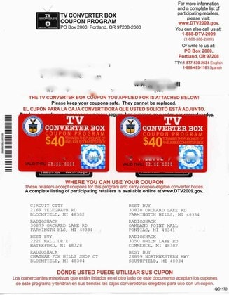 Half of government-issued digital TV coupons have expired