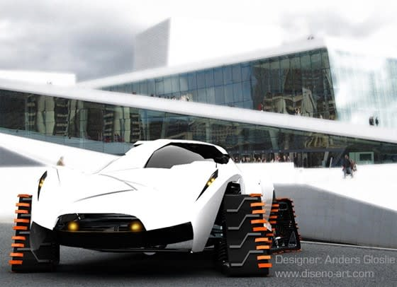 Electric Th Nk Frost Concept Vehicle Makes Snowmobiles Cringe