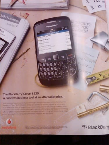 BlackBerry 8520 coming to Vodafone UK, too