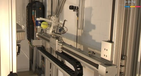 Video: TOTO robot catches tennis balls, hopes for a deeper
