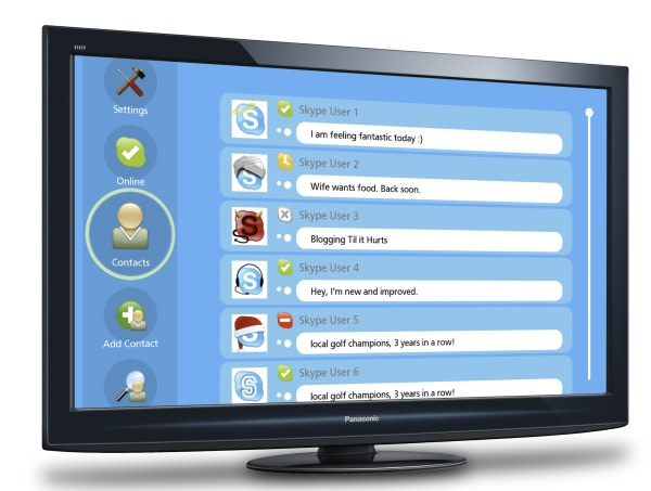 Skype HD: 720p videocalling from PCs or directly through LG