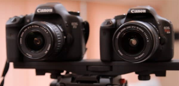 Canon Rebel T2i / 550D squares off with EOS 7D in video