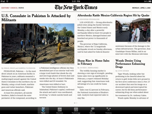 iPad apps: news and magazines