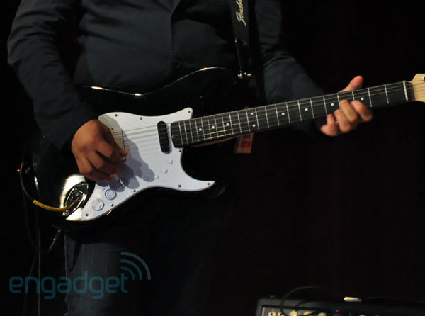Rock Band 3 Squier Stratocaster plays both real and virtual