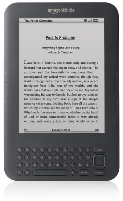 New Amazon Kindle announced: $139 WiFi-only version and $189 3G