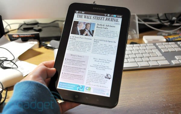 Wall Street Journal releases Android Tablet Edition app, phones need