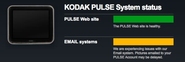 Kodak Pulse Email To Photo Frame System Down For Days Millions Of