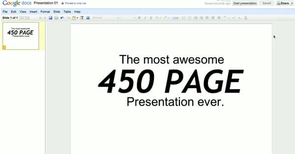 Google Docs presentation makes PowerPoint weep, beg for