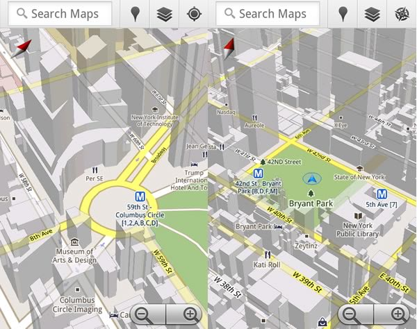 Google Maps 5.0 hits Android, includes new 3D map view and ... on google chrome search, google sync android, google maps android icon, city maps 2go android, google docs offline android,
