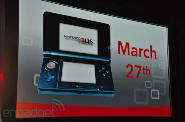 Nintendo 3DS coming to US March 27th for $249 99, Europe