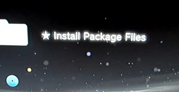 PS3 custom firmware lets you 'Install Package Files,' piracy