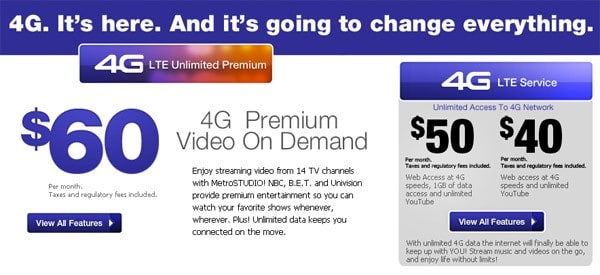 MetroPCS tweaks LTE plans: $40 gets you unlimited talk, text, and web*