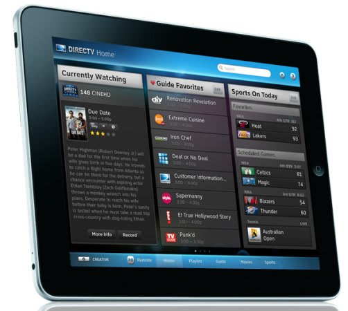 DirecTV previews its iPad remote app: no streaming, but very