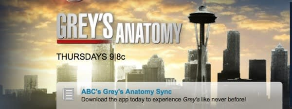 ABC's Sync iPad app is getting revived for Grey's Anatomy