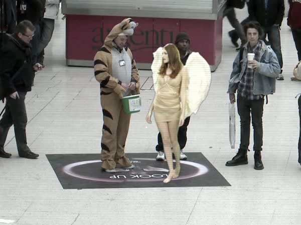 Lynx augmented reality stunt drops scantly clad angels on