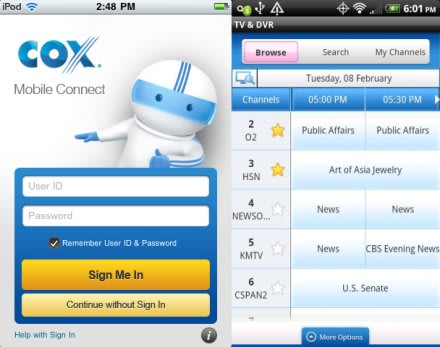 Cox Mobile Connect apps bring DVR scheduling, home voicemail access