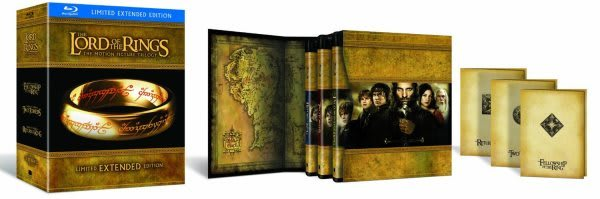 The Lord of the Rings Extended Edition Blu-ray set