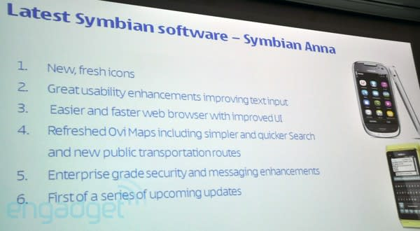 Nokia announces Symbian 'Anna' update for N8, E7, C7 and C6