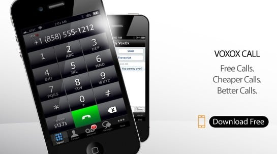 VoxOx Call for iPhone handles your virtual numbers, SMS, and faxes