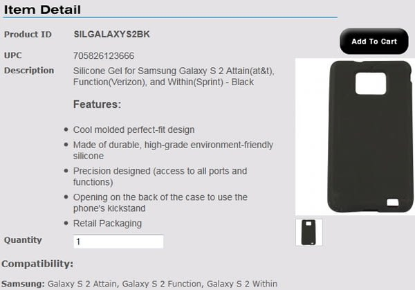Samsung Galaxy S II US carrier names revealed: AT&T Attain