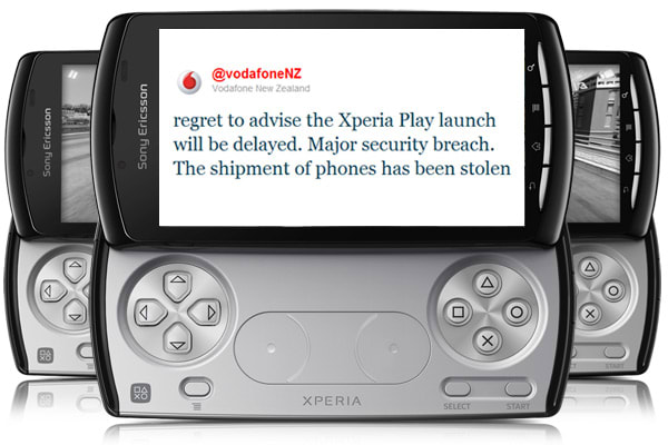 Xperia Play shipment to New Zealand stolen, Vodafone launch