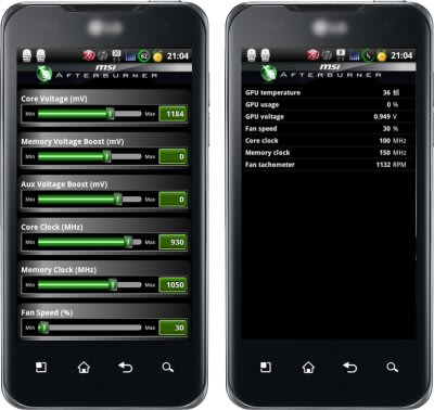MSI's Afterburner Android app makes GPU overclocking as easy