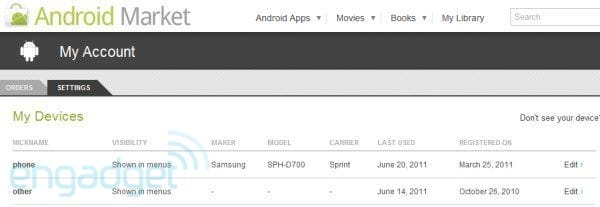 Google TVs pop up in Android Market device listings, still