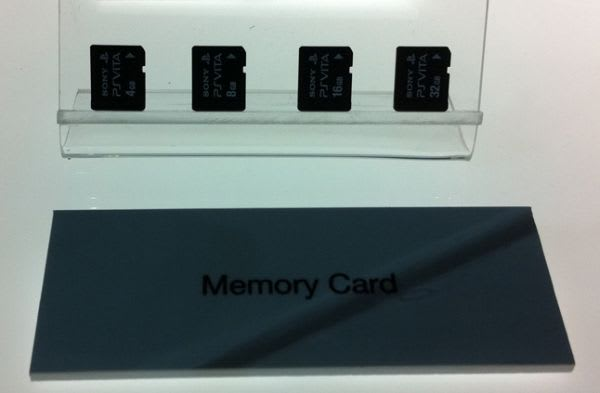 Sony PlayStation Vita's removable memory looks like it's an SD card